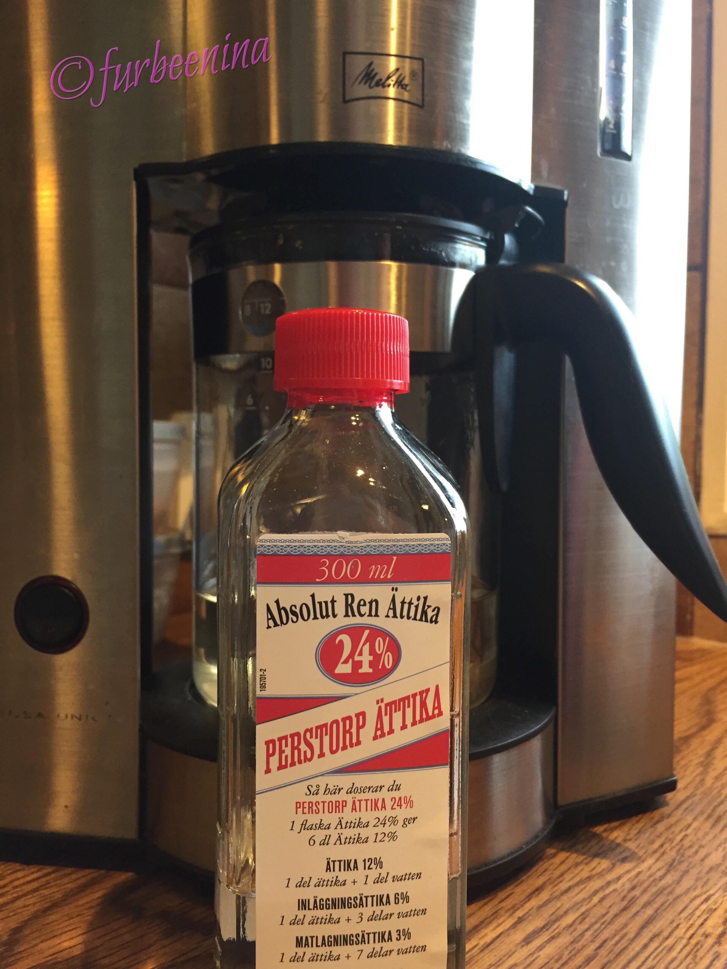 avkalka kaffebryggare ättika